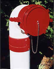 Picture of a dry hydrant with a full time inline swivel.